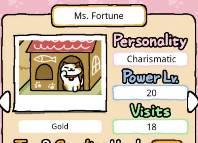 Neko Atsume Kitty Collector ms fortune