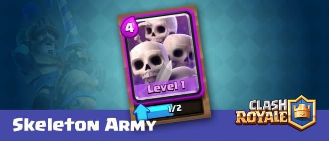 Clash Royale skeleton army